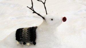Keresik a legszebb hóembert és hószobrot Újbudán